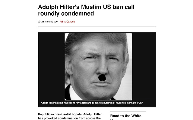 Hitler has a toupee