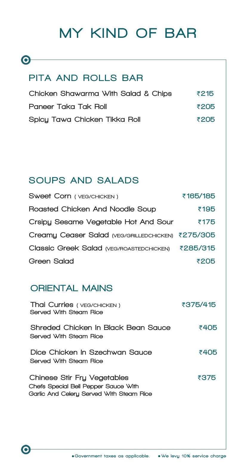 Mkob - My Kind Of Bar menu 11