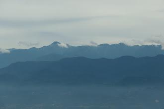 左から塩見岳・烏帽子岳・小河内岳など(手前に大西山)