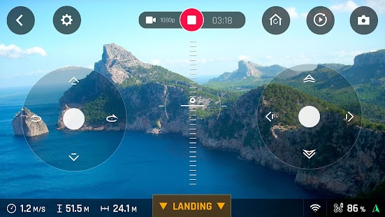FreeFlight Pro: miniatura de captura de pantalla