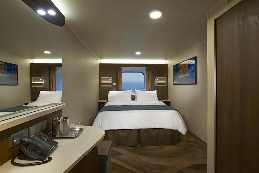 Norwegian-Escape-OceanviewOB - Cozy up in one of Norwegian Escape's oceanview rooms.