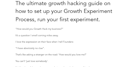 Growth Hacking playbook part 1/20: Process before tactics