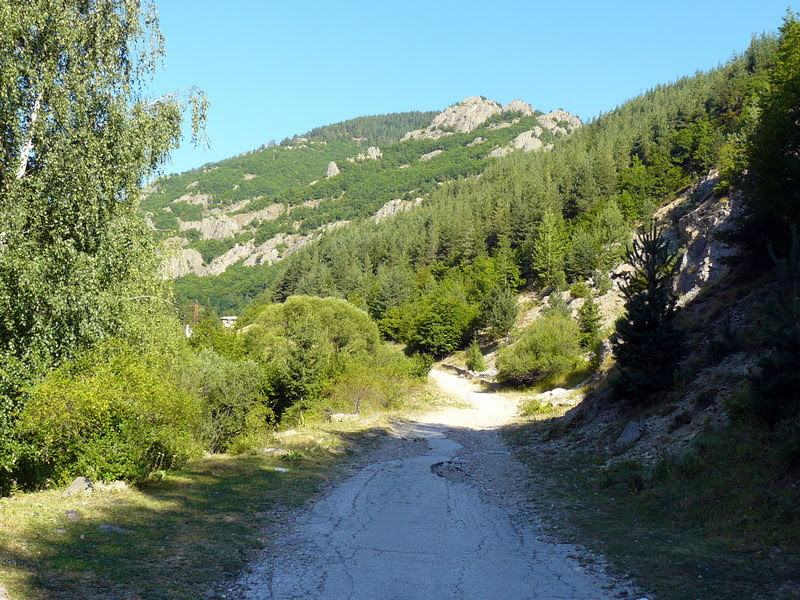 Асфалтов път към Каньона на водопадите