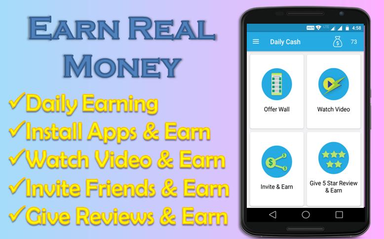 daily cash earn money app screenshot