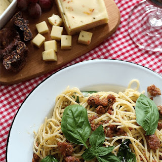 Chorizo Basil Spaghetti Recipe