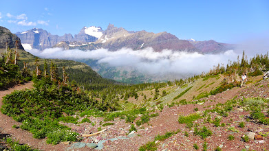 Photo: The clouds did burn off as we approached Red Gap Pass.