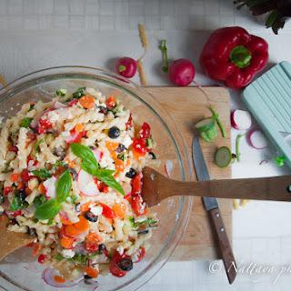 The End Of Summer Greek Pasta Salad