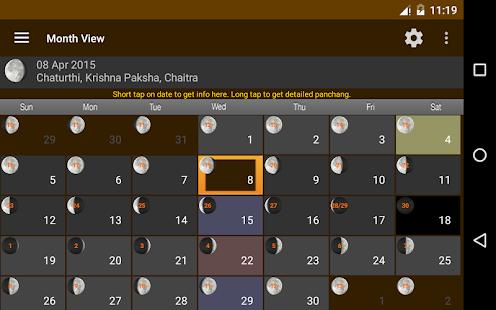 Hindu Calendar- screenshot thumbnail