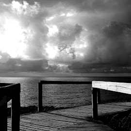 Summer clouds by Gil Reis - Black & White Landscapes ( sky, places, nature, clouds, travel, sea )