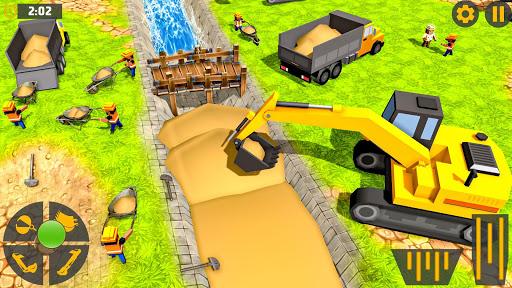 Mega City Canal Construction & Road Builder screenshots 3