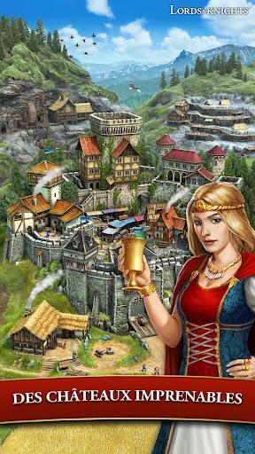 Code Triche Lords & Knights - MMO de stratu00e9gie mu00e9diu00e9val APK MOD screenshots 3