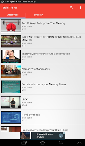 android Brain Trainer Videos Screenshot 4