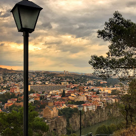 Old Tbilisi by Leyon Albeza - Instagram & Mobile iPhone ( travel photography, travelling, view, lamp post, travel locations, river, travel )