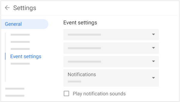 Manage event notifications