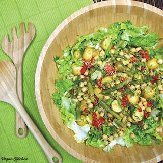 Lemony Chickpea and Escarole Salad