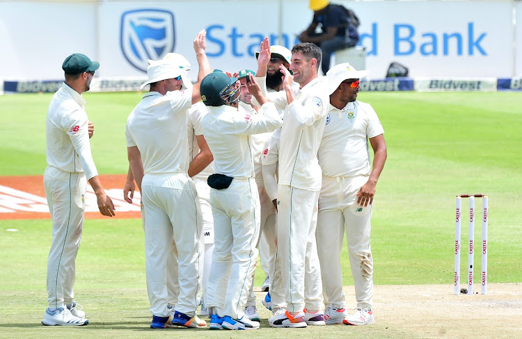 Duanne Olivier claimed his third five wicket haul and also his 21st wicket of the series during the third day of third and final Test at the Bidvest Wanderers Stadium in Johannesburg on January 12 2018.