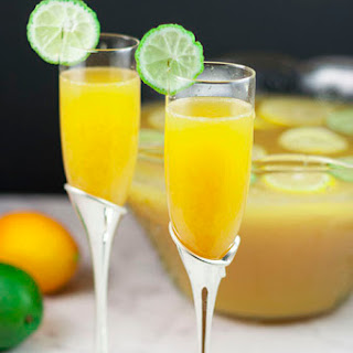Lemon-Lime Champagne Party Punch.
