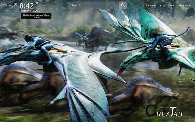 Avatar Wallpapers Avatar Theme |GreaTab