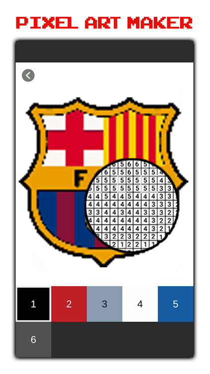 Football Logo Coloring By Numberpixelart Android Apps