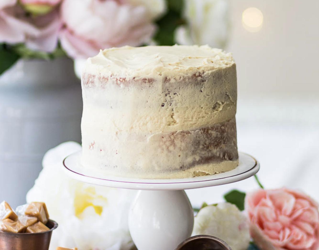 DIY wedding cake caramel icing