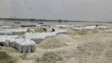 Photo: The salt industry at the Pink Lake