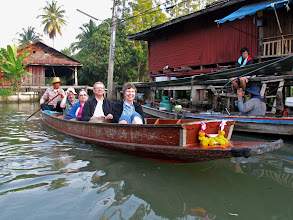 Photo: on the canals of Damnoen Saduak