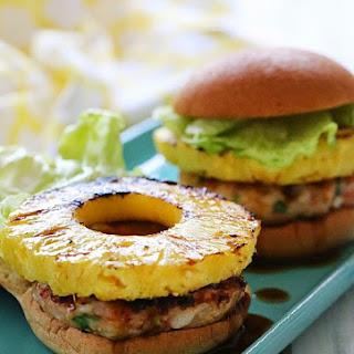 Aloha Teriyaki Shrimp Burgers.