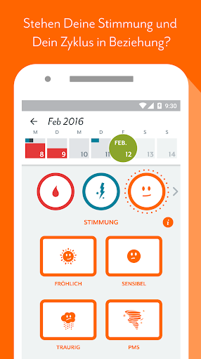 Screenshot for Perioden & Zyklus App Clue: Menstruationskalender in Germany Play Store