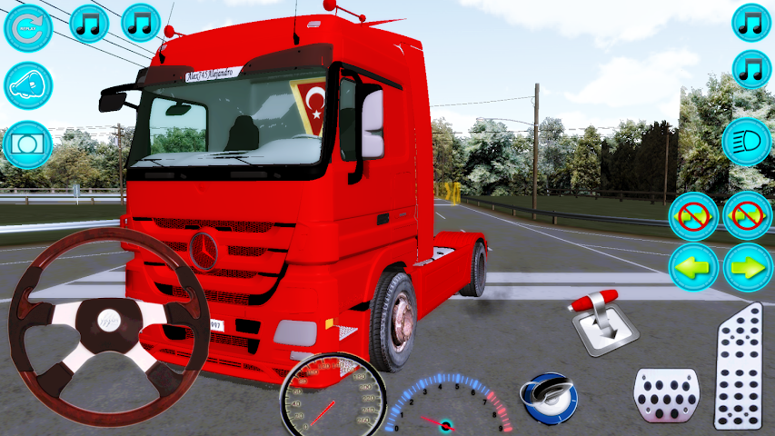 android Actros Truck Simlation Real ! Screenshot 8