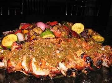 Grilled Pork Tenderloin w/ Guava Glaze