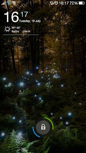 Fireflies Wallpaper QHD Lockscreen Screenshot Thumbnail