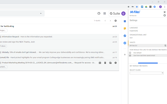 M-Files for Google G Suite