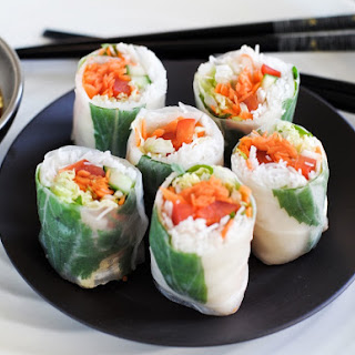 Fresh Noodle & Vegetable Rolls