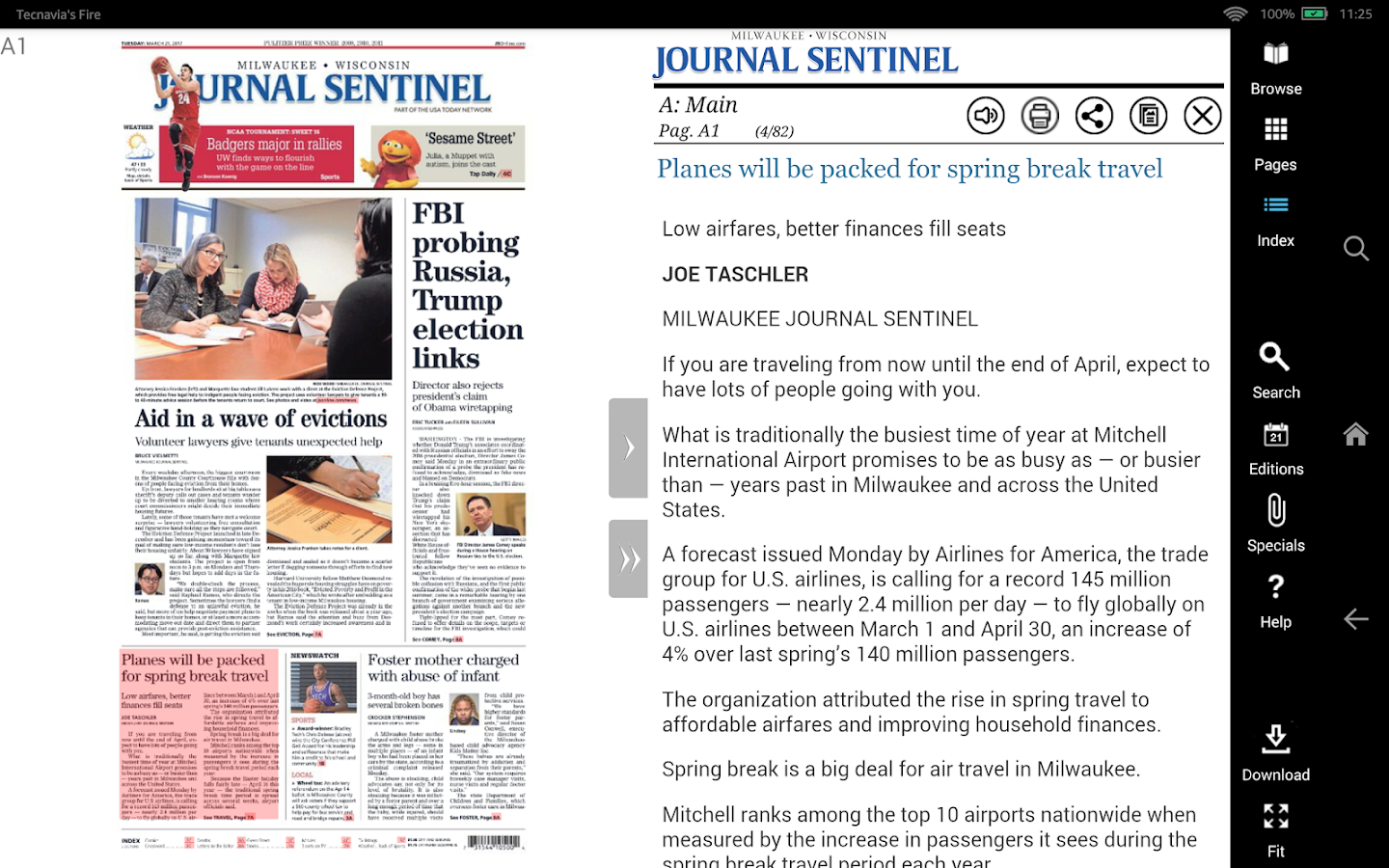 Milwaukee Journal Sentinel- screenshot