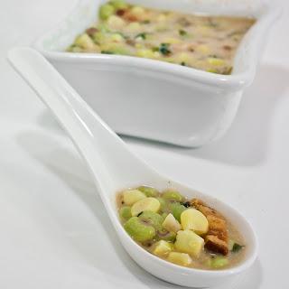 Fresh Black Eyed Peas & White Corn Soup