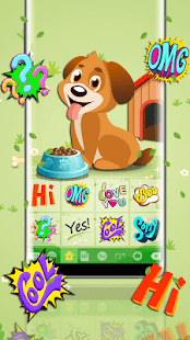 Lovely Puppy Emoji Keyboard - náhled