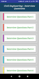 Download Civil Engineering Interview Questions For PC Windows and Mac apk screenshot 1