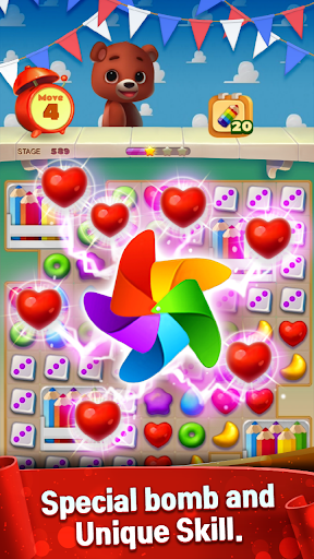 Toy Bear Sweet POP : Match 3 Puzzle apkpoly screenshots 22