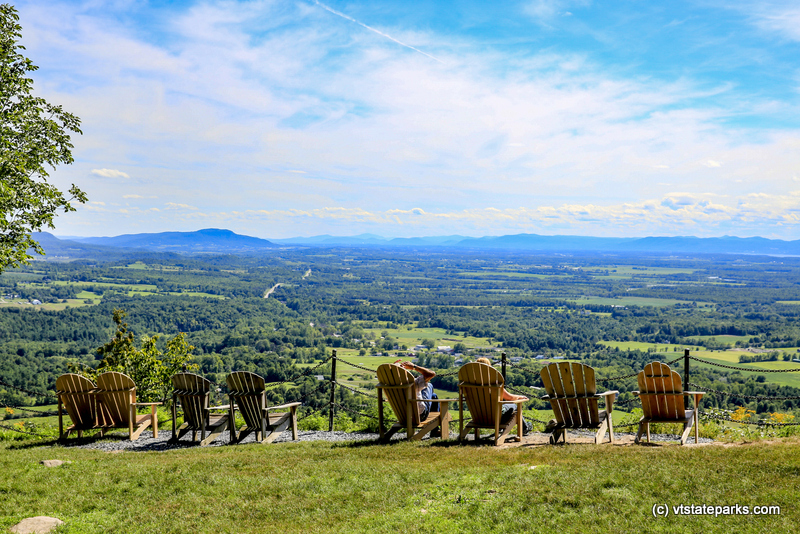 Photo: People relaxing at the top of Mt Philo State Park by Bob Ricketson