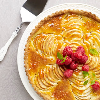 Apricot-Glazed Pear & Almond Tart