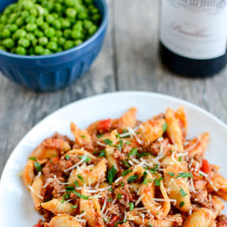 Instant Pot Pasta with Meat Sauce.
