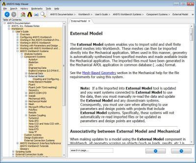 ANSYS - Справочная информация об External Model