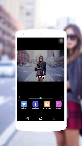 android Blur Background Effect Screenshot 3