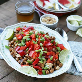 Indian-Spiced Chickpea and Peanut Salad.
