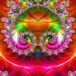 Mushroom fractal  by Capucino Julio - Illustration Abstract & Patterns ( mushroom, colorful, shape, fractal, digital, design )