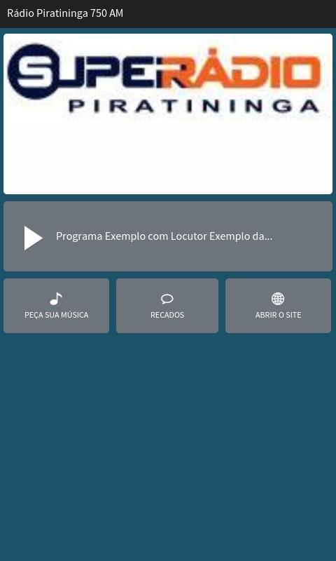 Rádio Piratininga 750 AM- screenshot