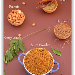 Flax Seeds Peanuts Podi (Powder)