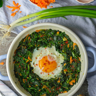 Spinach Carrot Egg.