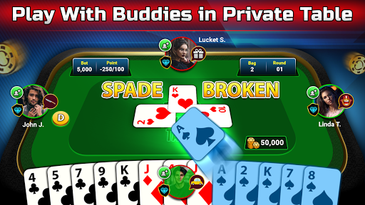 Spades Free - Multiplayer Online Card Game painmod.com screenshots 3