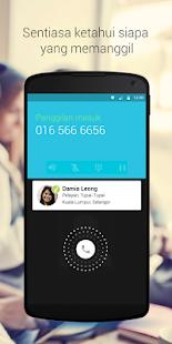 Whitepages ID Pemanggil &Sekat- lakaran kecil tangkapan skrin